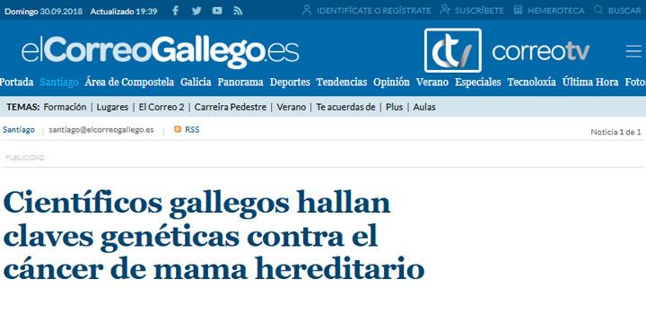 Científicos gallegos hallan claves genéticas contra el cáncer de mama hereditario