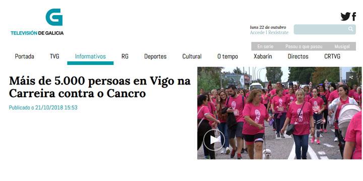 Máis de 5.000 persoas en Vigo na Carreira contra o Cancro
