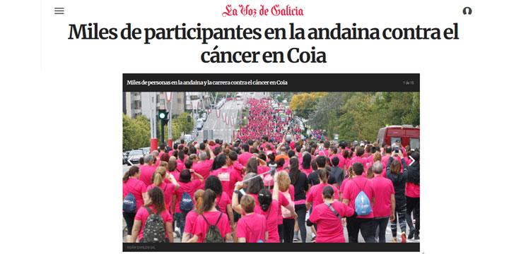 Miles de participantes en la andaina contra el cáncer en Coia
